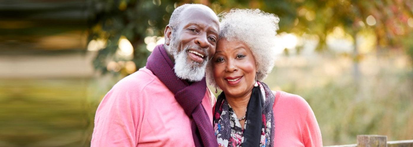 senior couple smiling - Orchard House